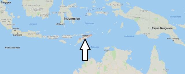 Wo liegt Osttimor? Wo ist Osttimor? in welchem Land? Welcher Kontinent ist Osttimor?