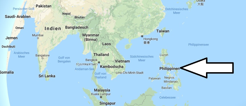 Wo liegt Philippinen? Wo ist Philippinen? in welchem Land? Welcher Kontinent ist Philippinen?