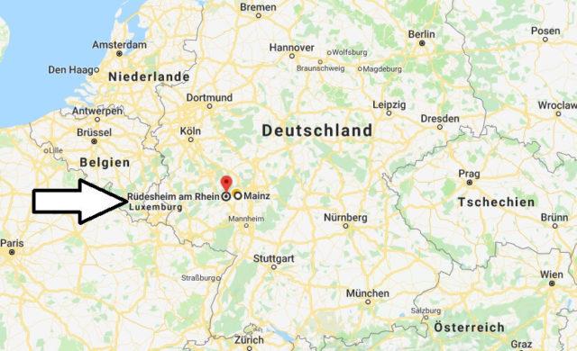 Wo liegt Rüdesheim am Rhein? Wo ist Rüdesheim am Rhein? in welchem Land? Welcher Kontinent ist Rüdesheim am Rhein?
