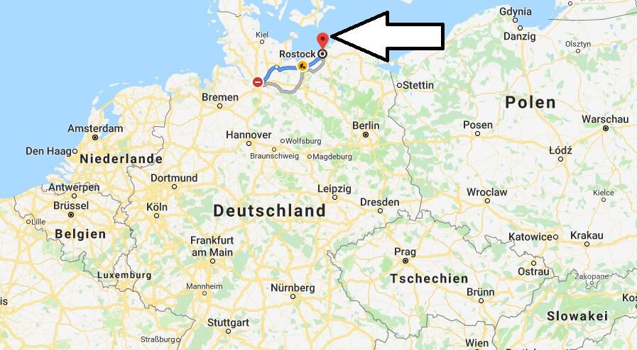 Wo liegt Rostock? Wo ist Rostock? in welchem Land? Welcher Kontinent ist Rostock?