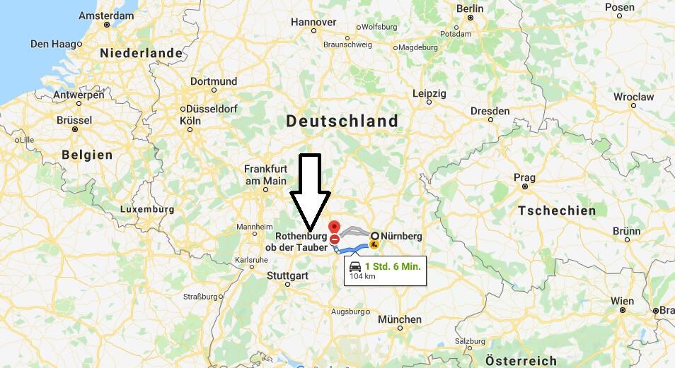 Wo liegt Rothenburg ob der Tauber? Wo ist Rothenburg ob der Tauber? in welchem Land? Welcher Kontinent ist Rothenburg ob der Tauber?