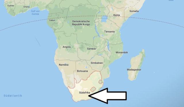 Wo liegt Südafrika? Wo ist Südafrika? in welchem Land? Welcher Kontinent ist Südafrika?