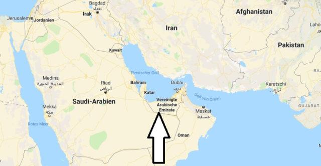 Wo liegt Vereinigte Arabische Emirate? Wo ist Vereinigte Arabische Emirate? in welchem Land? Welcher Kontinent ist Vereinigte Arabische Emirate?