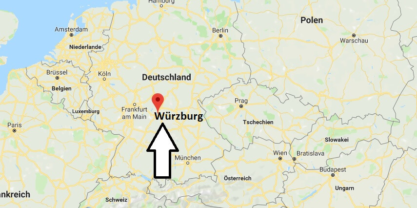 würzburg karte deutschland Wo liegt Würzburg? Wo ist Würzburg? in welchem Land? Welcher