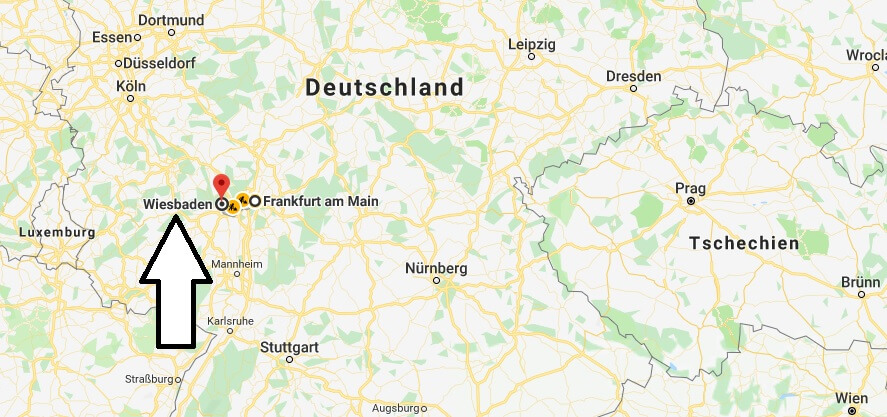 Wo liegt Wiesbaden? Wo ist Wiesbaden? in welchem Land? Welcher Kontinent ist Wiesbaden?