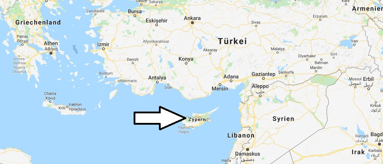 Wo liegt Zypern? Wo ist Zypern? in welchem Land? Welcher Kontinent ist Zypern?