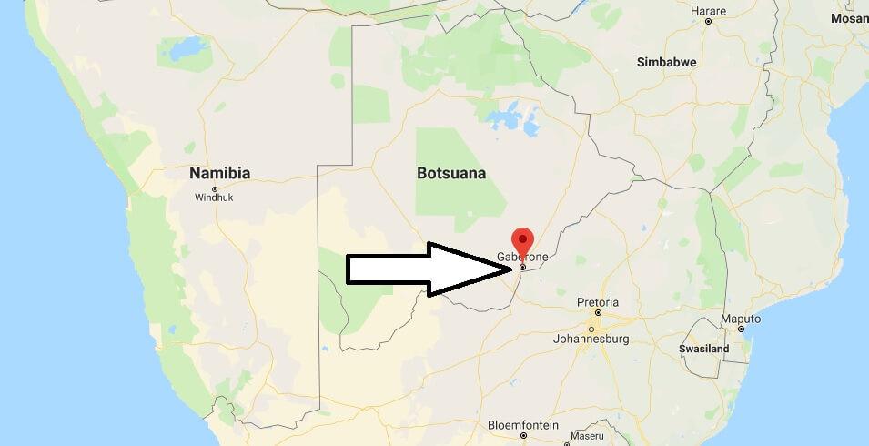 Was ist die Hauptstadt von Botswana