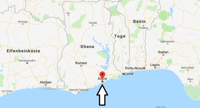 Was ist die Hauptstadt von Ghana
