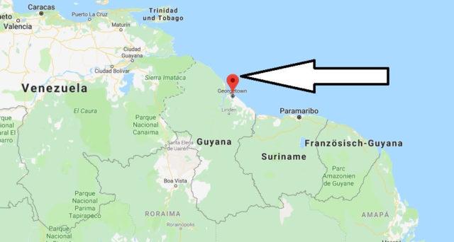 Was ist die Hauptstadt von Guyana