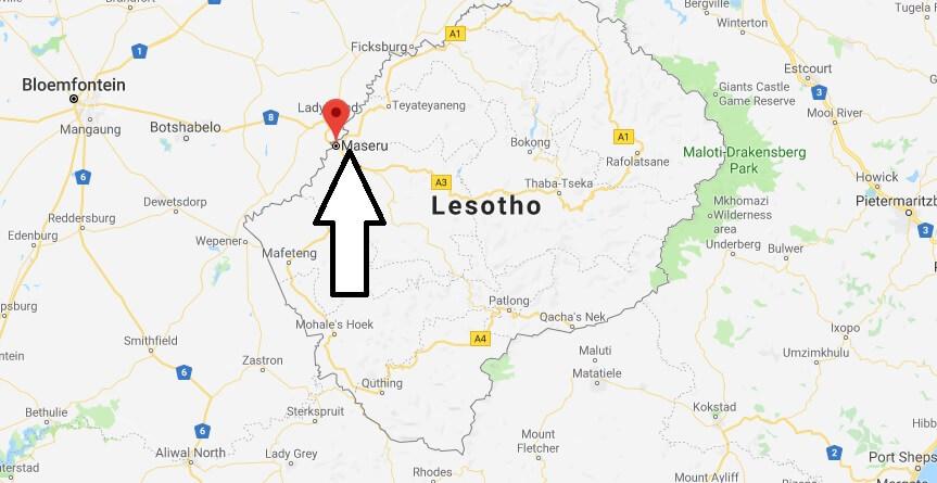Was ist die Hauptstadt von Lesotho