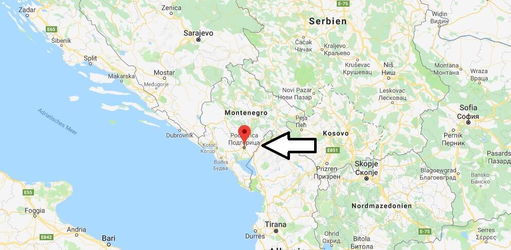 Was ist die Hauptstadt von Montenegro