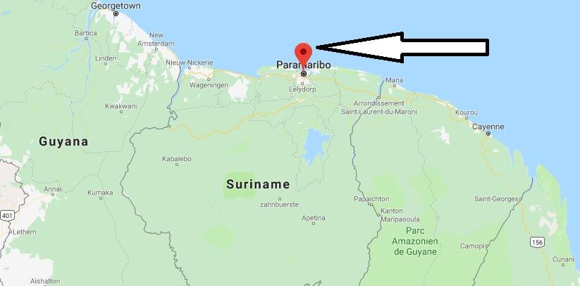 Was ist die Hauptstadt von Suriname