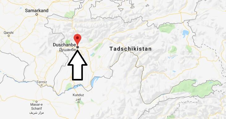 Was ist die Hauptstadt von Tadschikistan