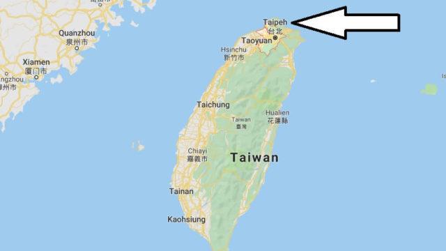 Was ist die Hauptstadt von Taiwan