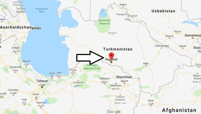 Was ist die Hauptstadt von Turkmenistan
