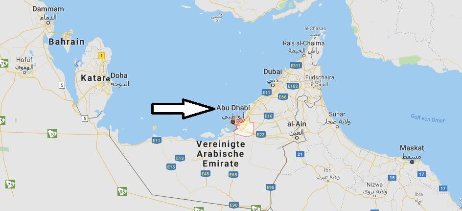 Was ist die Hauptstadt von Vereinigte Arabische Emirate