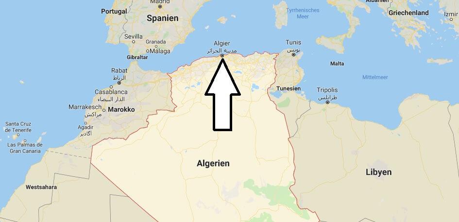 Wo liegt Algerien? Wo ist Algerien? in welchem land liegt Algerien