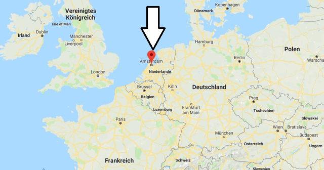 Wo liegt Amsterdam? Wo ist Amsterdam? in welchem land liegt Amsterdam