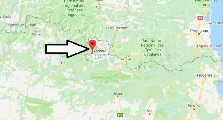 Wo liegt Andorra la Vella? Wo ist Andorra la Vella? in welchem land liegt Andorra la Vella?