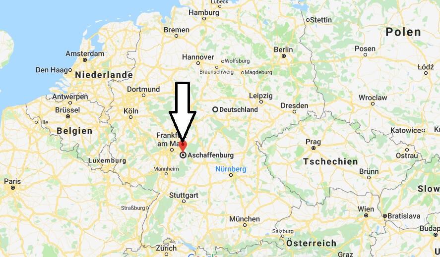 Wo liegt Aschaffenburg? Wo ist Aschaffenburg? in welchem Land