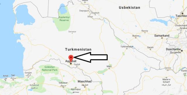 Wo liegt Ashgabat? Wo ist Ashgabat? in welchem land liegt Ashgabat