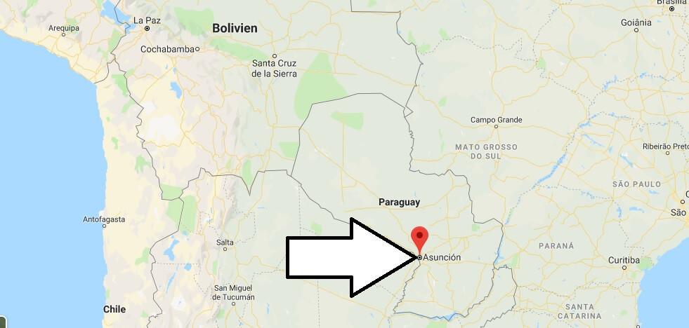 Wo liegt Asunción? Wo ist Asunción? in welchem land liegt Asunción
