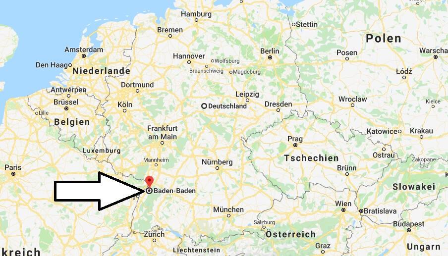 Wo liegt Baden-Baden? Wo ist Baden-Baden? in welchem Land