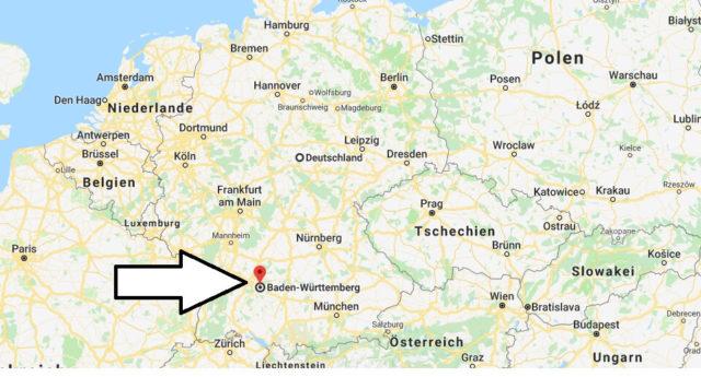 Wo liegt Baden-Württemberg? Wo ist Baden-Württemberg