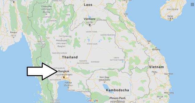 Wo liegt Bangkok? Wo ist Bangkok? in welchem land liegt Bangkok
