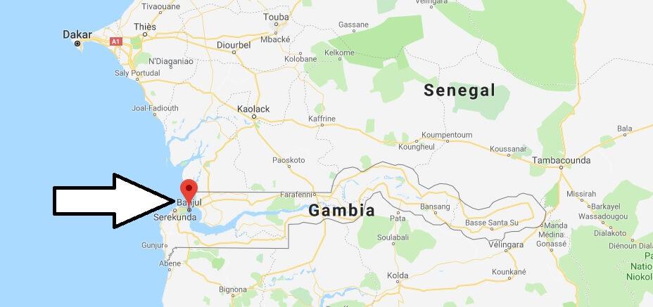 Wo liegt Banjul? Wo ist Banjul? in welchem land liegt Banjul