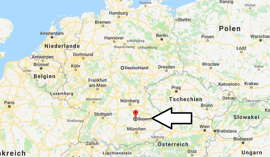 Wo liegt Bavaria (Bayern)? Wo ist Bavaria