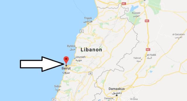 Wo liegt Beirut? Wo ist Beirut? in welchem land liegt Beirut