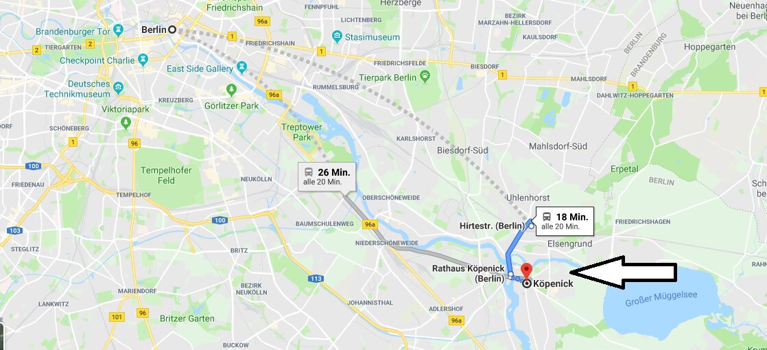 Wo liegt Berlin-Köpenick? Wo ist Berlin-Köpenick? in welchem Land