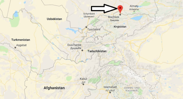 Wo liegt Bischkek? Wo ist Bischkek? in welchem land liegt Bischkek