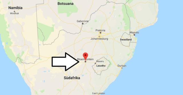 Wo liegt Bloemfontein? Wo ist Bloemfontein? in welchem land liegt Bloemfontein