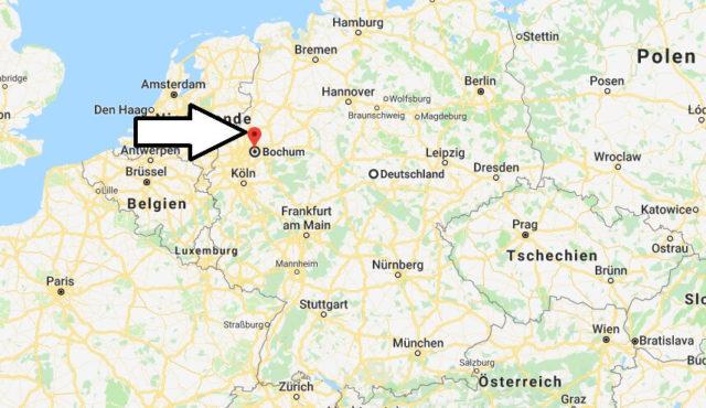 Wo liegt Bochum? Wo ist Bochum