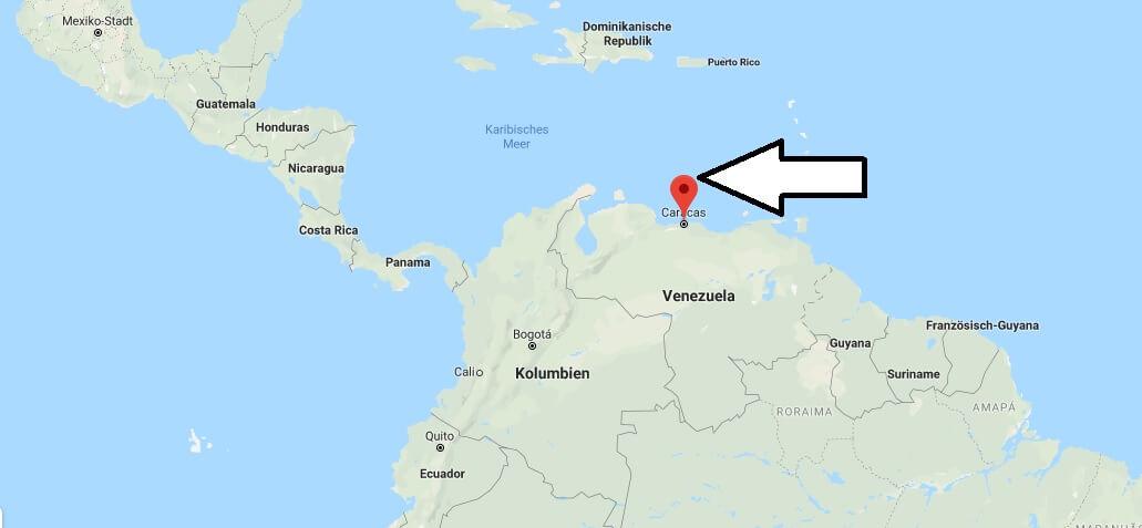 Wo liegt Caracas? Wo ist Caracas? in welchem land liegt Caracas