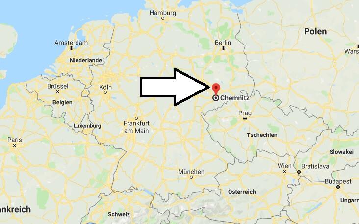 Wo liegt Chemnitz? Wo ist Chemnitz