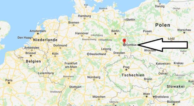 Wo liegt Cottbus? Wo ist Cottbus? in welchem Land