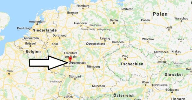 Wo liegt Darmstadt? Wo ist Darmstadt