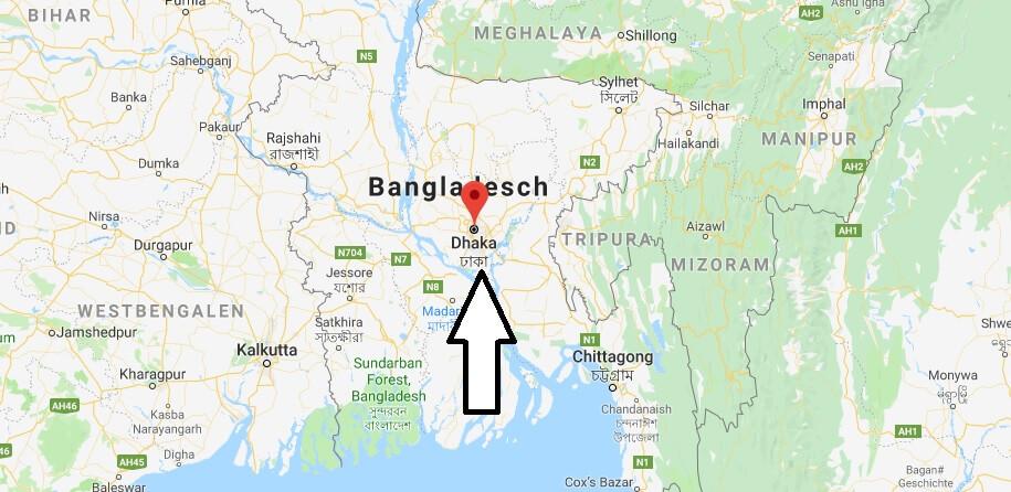 Wo liegt Dhaka? Wo ist Dhaka? in welchem land liegt Dhaka