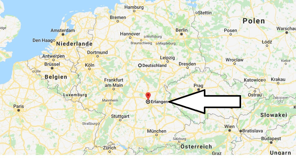 Wo liegt Erlangen? Wo ist Erlangen