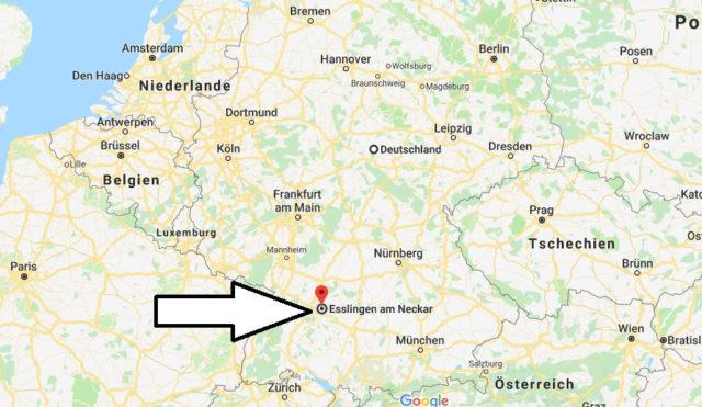 Wo liegt Esslingen? Wo ist Esslingen