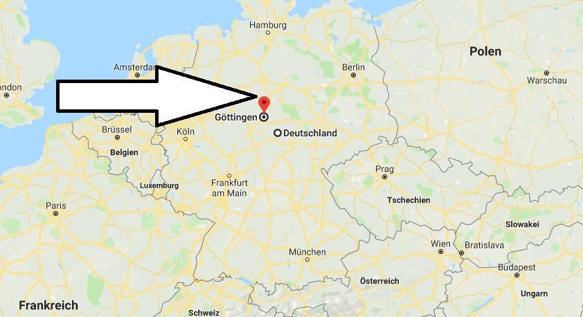 wo liegt göttingen auf der deutschlandkarte Wo liegt Göttingen? Wo ist Göttingen | Wo Liegt