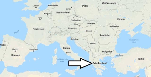 Wo liegt Griechenland? Wo ist Griechenland? in welchem Land? Welcher Kontinent ist Griechenland?