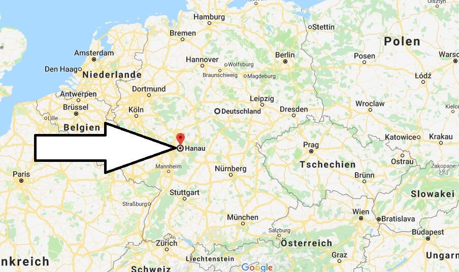 Wo liegt Hanau? Wo ist Hanau