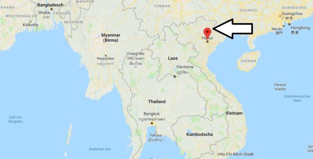 Wo liegt Hanoi? Wo ist Hanoi? in welchem land liegt Hanoi