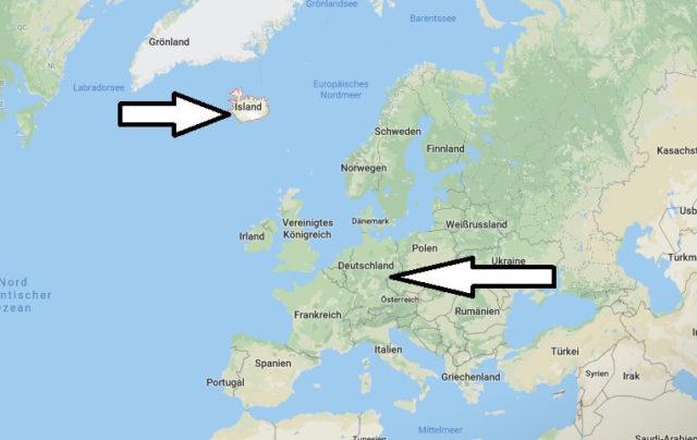 Wo liegt Island? Wo ist Island? in welchem Land? Welcher Kontinent ist Island?