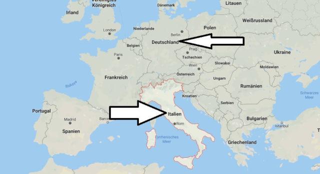 Wo liegt Italien? Wo ist Italien? in welchem Land? Welcher Kontinent ist Italien?