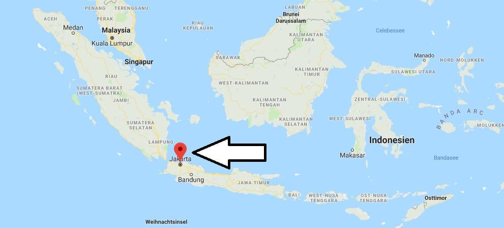 Wo liegt Jakarta? Wo ist Jakarta? in welchem land liegt Jakarta